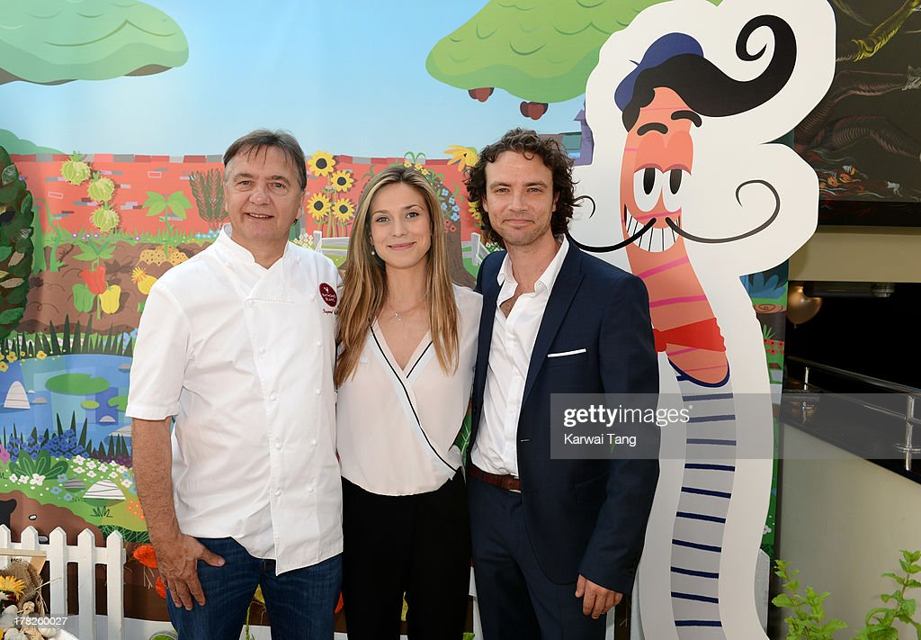 <a gi-track='captionPersonalityLinkClicked' href=/galleries/search?phrase=Raymond+Blanc&family=editorial&specificpeople=756902 ng-click='$event.stopPropagation()'>Raymond Blanc</a>, Charlotte Salt and Olivier Blanc attend the Launch of a New Childrens App 'Henri Le Worm' held at Brasserie Blanc on August 28, 2013 in London, England.