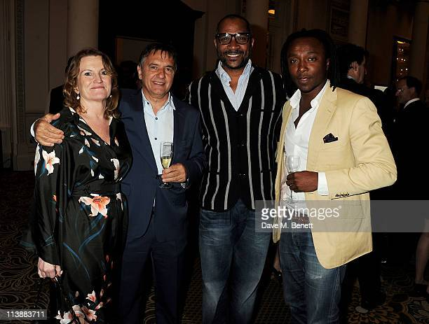 Raymond Blanc Ray Duhaney and Freddie Achom attend the Tatler Restaurant Awards 2011 at The Langham Hotel on May 9 2011 in London England