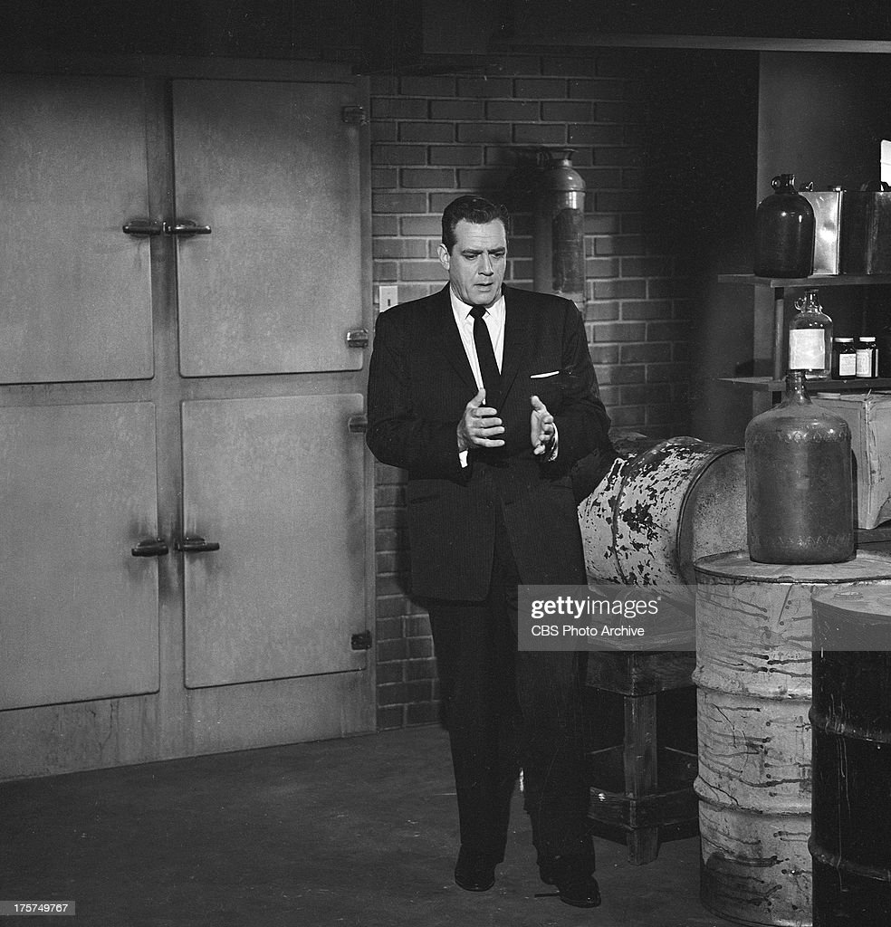 Raymond Burr as Perry Mason in the PERRY MASON episode 'Case of the Hateful Hero' Image dated July 24 1962