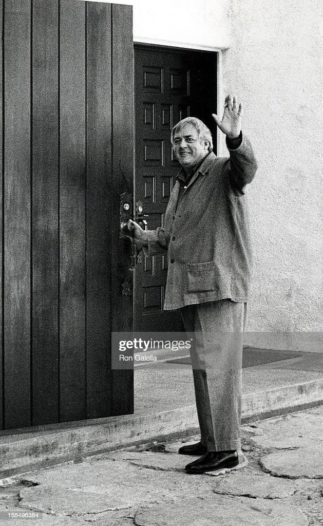 Raymond Burr during Raymond Burr File Photos at Raymond Burr's Home in Hollywood California United States