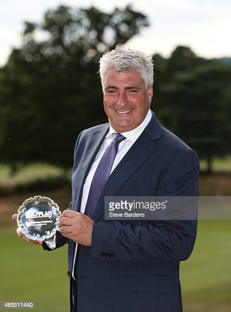 Raymond Chandler of St Kew golf club poses for a portrait after his victory in the Golfplan Insurance PGA ProCaptain Challenge south qualifier at...