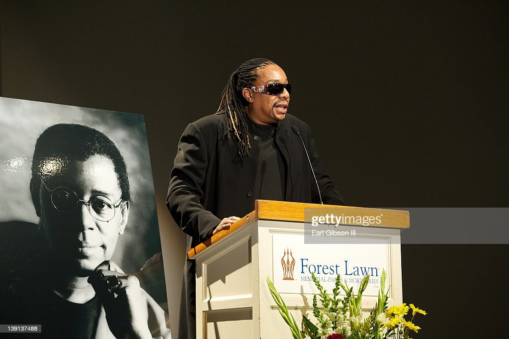 Raymond Cornelius pays tribute to his father Don Cornelius at his Memorial Service held on February 16, 2012 in Los Angeles, California.