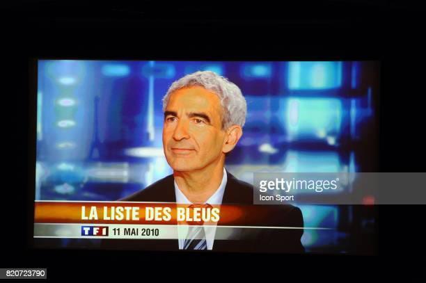 Raymond DOMENECH Plateau de TF1 Liste des 30 joueurs pour la coupe du Monde 2010 TF1 Paris