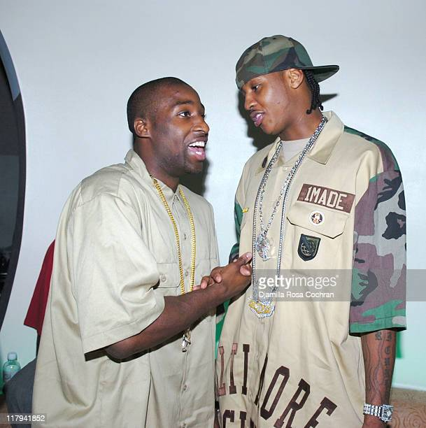 Raymond Felton and Carmelo Anthony during Hakim Warrick and Raymond Felton's Draft Party at Glo June 28 2005 at Glo in New York City New York United...