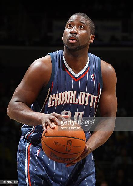 Raymond Felton of the Charlotte Bobcats looks to make a free throw against the Washington Wizards during the game on March 23 2010 at the Verizon...