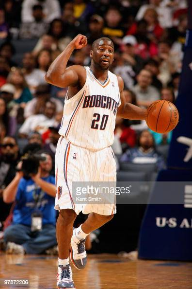 Raymond Felton of the Charlotte Bobcats moves the ball against the Los Angeles Lakers during the game on March 5 2010 at the Time Warner Cable Arena...