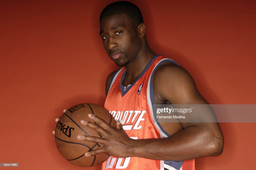 Raymond Felton #20 of the Charlotte Bobcats poses during a portrait session with the 2005 NBA rookie class on August 10, 2005 at the MSG Training Facility in Tarrytown, New York.