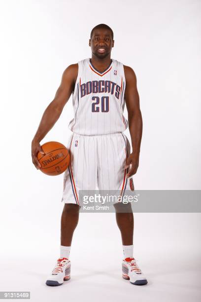 Raymond Felton of the Charlotte Bobcats poses for a portrait during 2009 NBA Media Day at Time Warner Cable Arena on September 28 2009 in Charlotte...