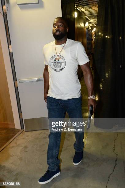 Raymond Felton of the LA Clippers arrives before the game against the Utah Jazz in Game Five of the Western Conference Quarterfinals of the 2017 NBA...
