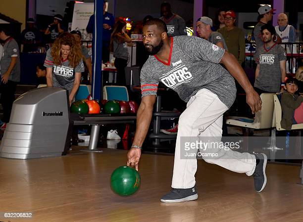 Raymond Felton of the LA Clippers bowls during the LA Clippers Foundation Hosts Annual Charity Basketbowl Challenge Presented by Children's Hospital...