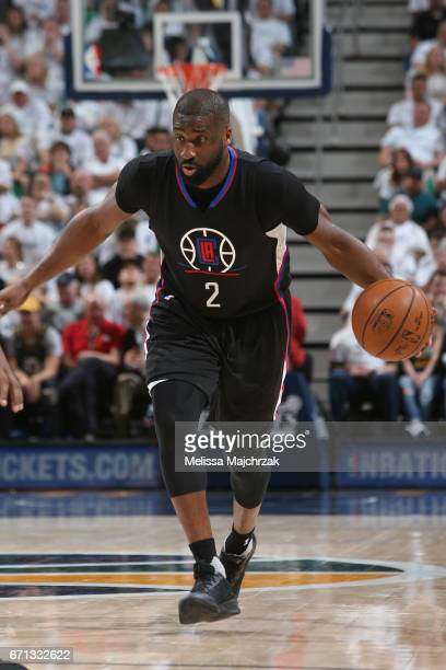 Raymond Felton of the LA Clippers handles the ball against the Utah Jazz during Game Three of the Western Conference Quarterfinals of the 2017 NBA...