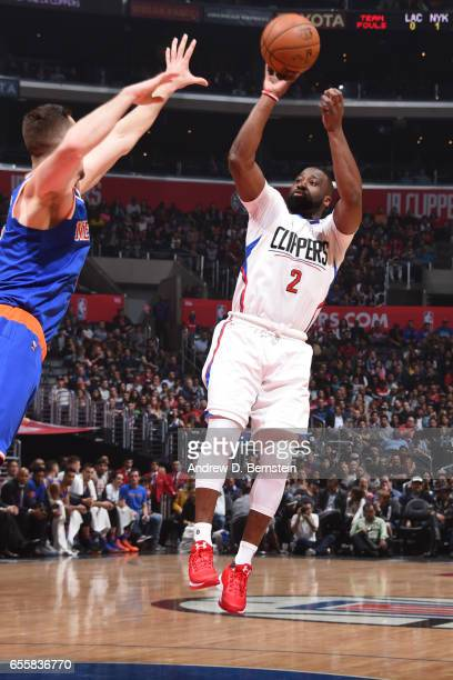 Raymond Felton of the LA Clippers shoots the ball against the New York Knicks on March 20 2017 at STAPLES Center in Los Angeles California NOTE TO...