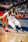 Raymond Felton of the Dallas Mavericks drives against the Houston Rockets on October 7 2014 at the American Airlines Center in Dallas Texas NOTE TO...