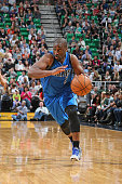 Raymond Felton of the Dallas Mavericks handles the ball against the Utah Jazz on April 13 2015 at EnergySolutions Arena in Salt Lake City Utah NOTE...