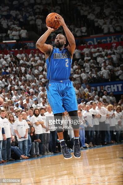Raymond Felton of the Dallas Mavericks shoots the ball during the game against the Oklahoma City Thunder in Game Two of the Western Conference...