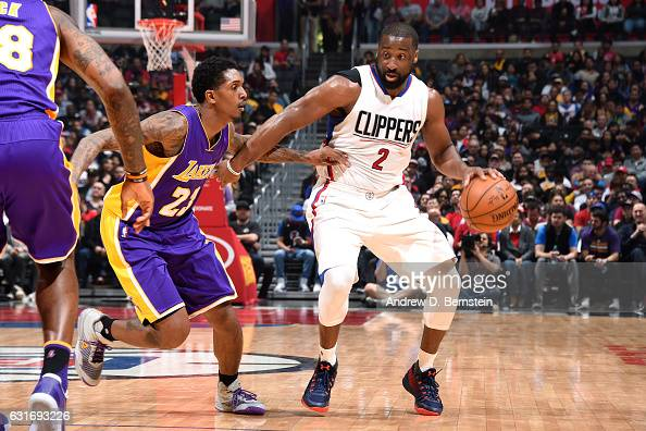 Raymond Felton of the Los Angeles Clippers handles the ball during the game against the Los Angeles Lakers on January 14 2017 at STAPLES Center in...