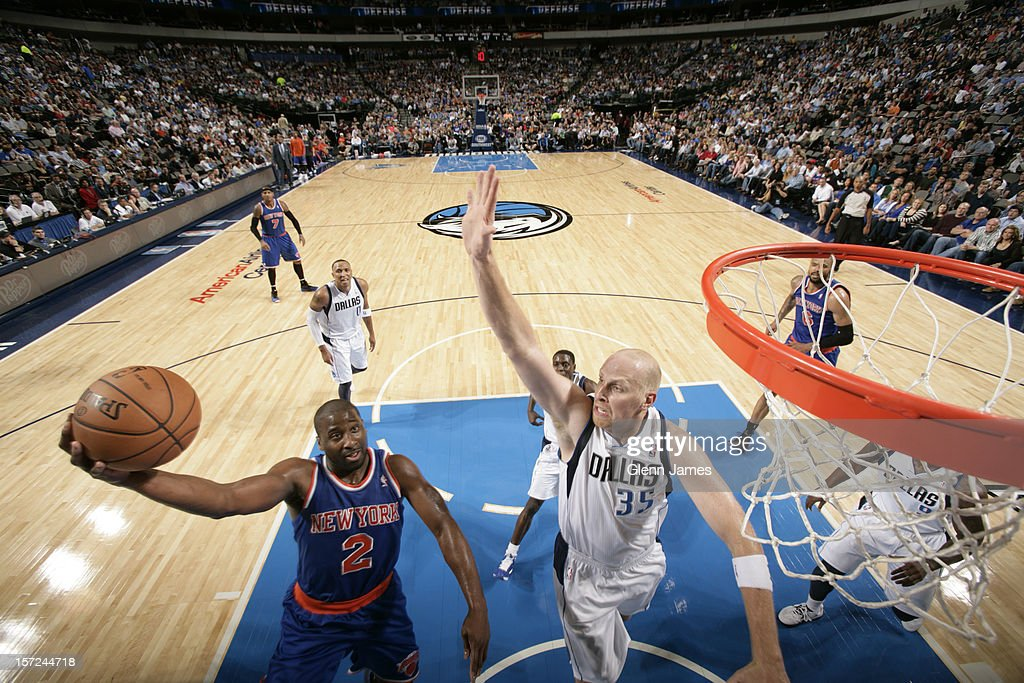 <a gi-track='captionPersonalityLinkClicked' href=/galleries/search?phrase=Raymond+Felton&family=editorial&specificpeople=209141 ng-click='$event.stopPropagation()'>Raymond Felton</a> #2 of the New York Knicks drives to the basket against <a gi-track='captionPersonalityLinkClicked' href=/galleries/search?phrase=Chris+Kaman&family=editorial&specificpeople=201661 ng-click='$event.stopPropagation()'>Chris Kaman</a> #35 of the Dallas Mavericks on November 21, 2012 at the American Airlines Center in Dallas, Texas.