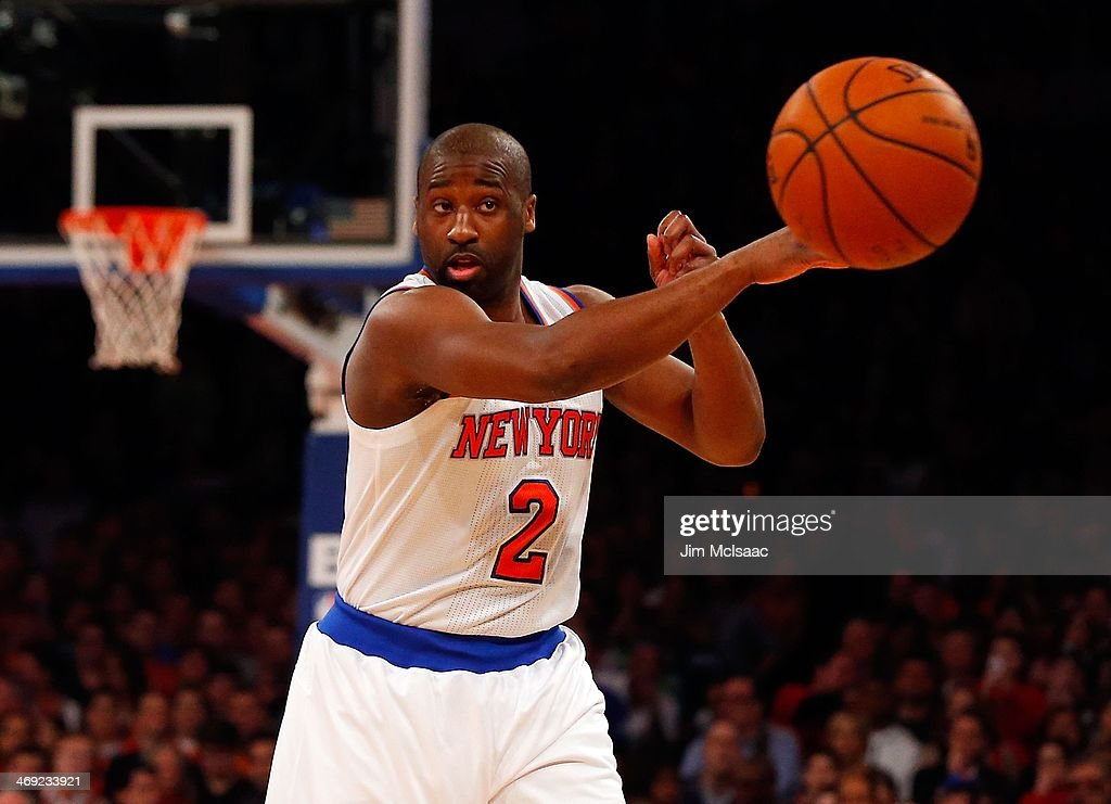 <a gi-track='captionPersonalityLinkClicked' href=/galleries/search?phrase=Raymond+Felton&family=editorial&specificpeople=209141 ng-click='$event.stopPropagation()'>Raymond Felton</a> #2 of the New York Knicks in action against the Miami Heat at Madison Square Garden on February 1, 2014 in New York City. The Heat defeated the Knicks 106-91.