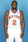 Raymond Felton of the New York Knicks poses for a photo during Media Day on September 24 2010 at the MSG Training Center in Greenburgh New York NOTE...