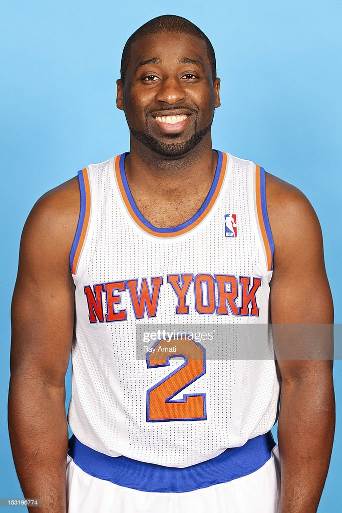 Raymond Felton #2 of the New York Knicks poses for a photo during the New York Knicks Media Day on October 1, 2012 at the Madison Square Garden Training Center in Tarrytown, New York.