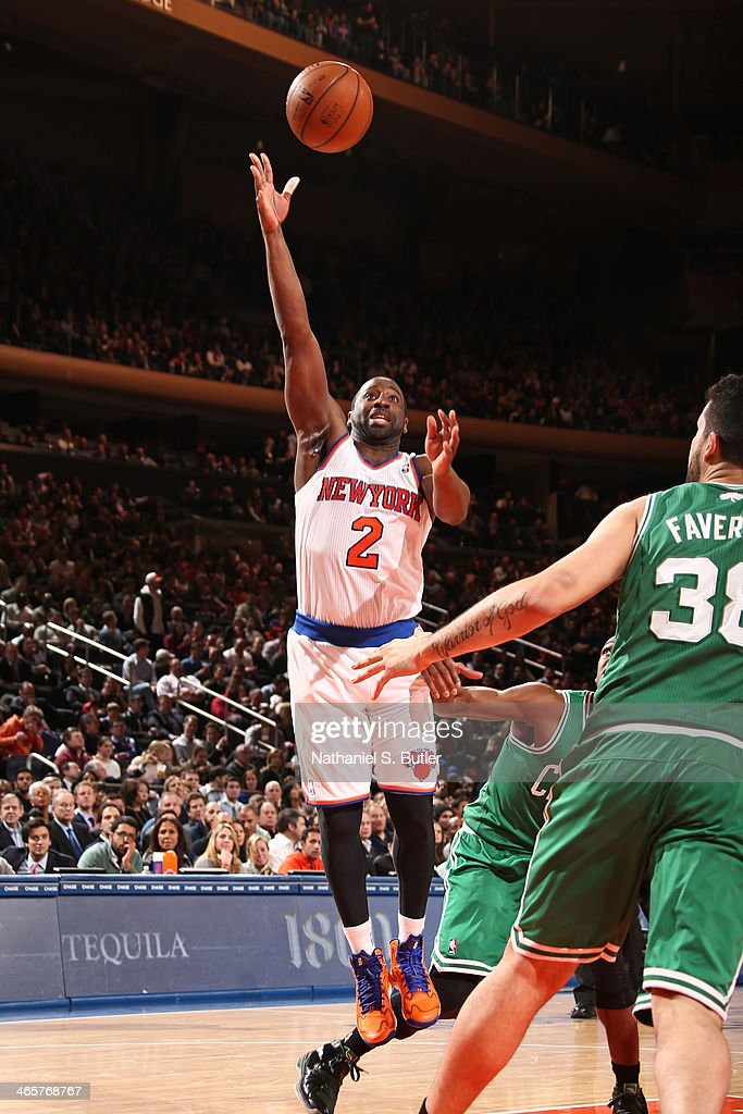 <a gi-track='captionPersonalityLinkClicked' href=/galleries/search?phrase=Raymond+Felton&family=editorial&specificpeople=209141 ng-click='$event.stopPropagation()'>Raymond Felton</a> #2 of the New York Knicks shoots against the Boston Celtics at Madison Square Garden in New York City on January 28, 2014.