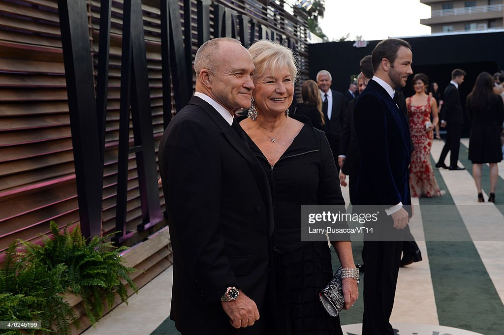 Raymond Kelly and Veronica Kelly attend the 2014 Vanity Fair Oscar Party Hosted By Graydon Carter on March 2, 2014 in West Hollywood, California.