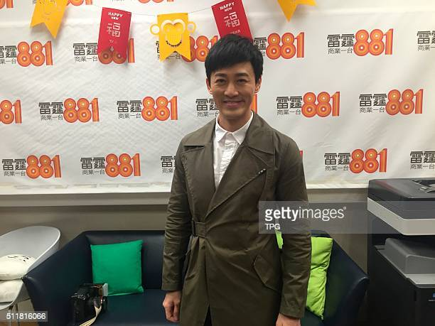 Raymond Lam attends a radion activity on 22th February 2016 in Hongkong China