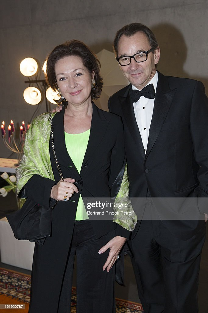 Raymond Loretan, President of SSR, the Swiss public broadcasting organisation (R), and his wife Carole attend the 30th edition of 'La Nuit Des Neiges' Charity Gala on February 16, 2013 in Crans-Montana, Switzerland.