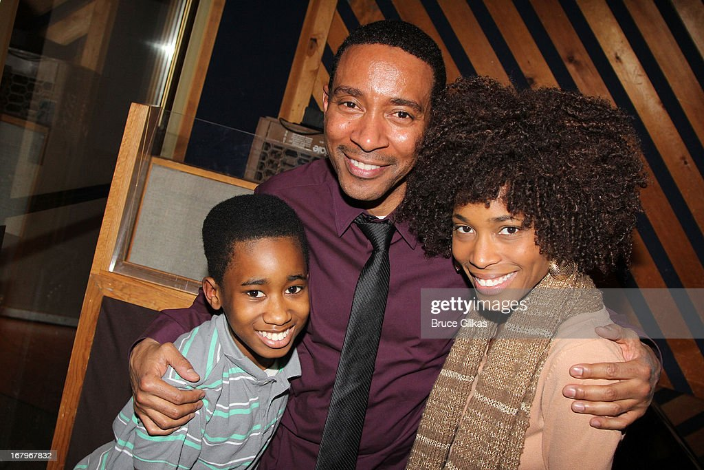 Raymond Luke Jr, Charles Randolph-Wright and Valisia LeKae attend Broadway's 'Motown:The Musical' Original Broadway Cast Recording Session at MSR Studios in Times Square on May 2, 2013 in New York City.