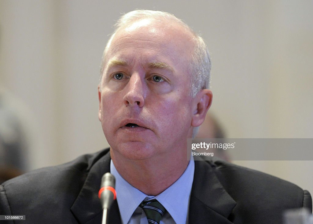 Raymond McDaniel, chairman and chief executive officer of Moody's Corp., testifies at a hearing of the Financial Crisis Inquiry Commission in New York, U.S., on Wednesday, June 2, 2010. McDaniel said his company's ratings of collateralized debt obligations and residential mortgage securities in the past several years have been 'deeply disappointing.' Photographer: Peter Foley/Bloomberg via Getty Images