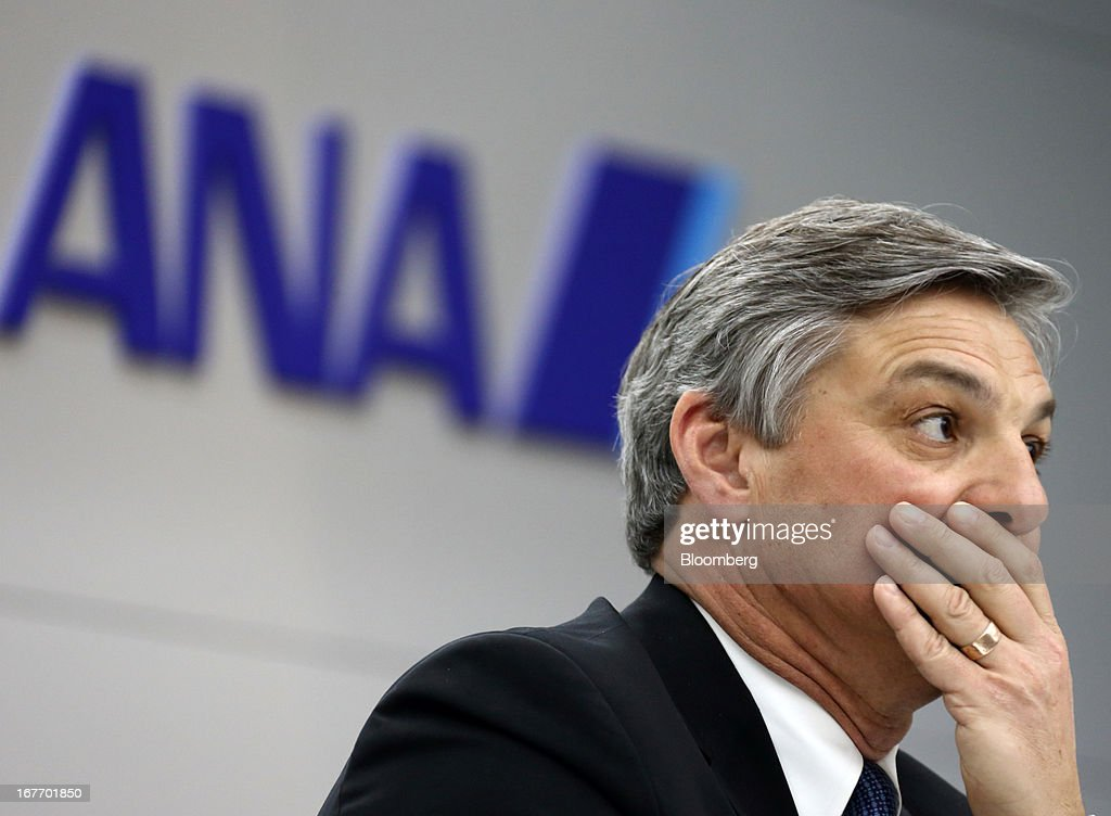 Raymond 'Ray' Conner, president and chief executive officer of Boeing Commercial Airplanes, attends a news conference after a test flight of a Boeing 787 Dreamliner aircraft operated by All Nippon Airways Co. (ANA) at Haneda Airport in Tokyo, Japan, on Sunday, April 28, 2013. Boeing's 787 Dreamliner, which resumed flights after a more than three-month hiatus, is safe even while the cause of a battery defect remains uncertain, the aircraft manufacturer said. Photographer: Tomohiro Ohsumi/Bloomberg via Getty Images