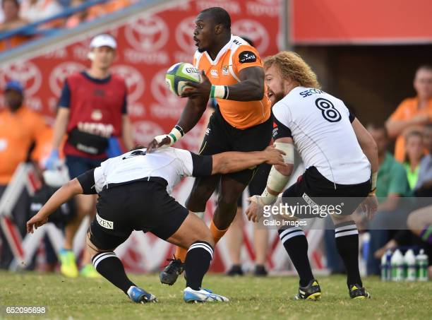 Raymond Rhule of the Cheetahs during the Super Rugby match between Toyota Cheetahs and Sunwolves at Toyota Stadium on March 11 2017 in Bloemfontein...