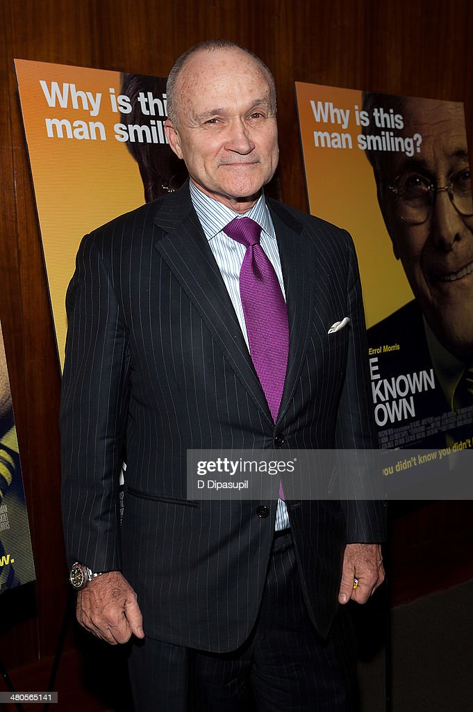 Raymond W. Kelly attends 'The Unknown Known' screening at the Museum Of Arts And Design on March 25, 2014 in New York City.