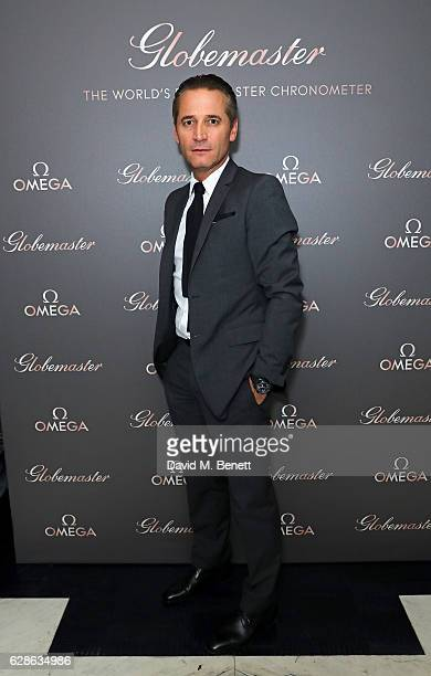 Raynald Aeschlimann attends OMEGA Constellation Globemaster dinner at Marcus on December 8 2016 in London England