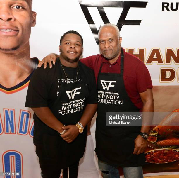 Raynard Westbrook and Thad Foucher attend Russell Westbrook Why Not Foundation 6th Annual Dinner on November 21 2017 in Los Angeles California