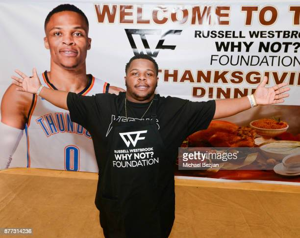 Raynard Westbrook attends Russell Westbrook Why Not Foundation 6th Annual Dinner on November 21 2017 in Los Angeles California