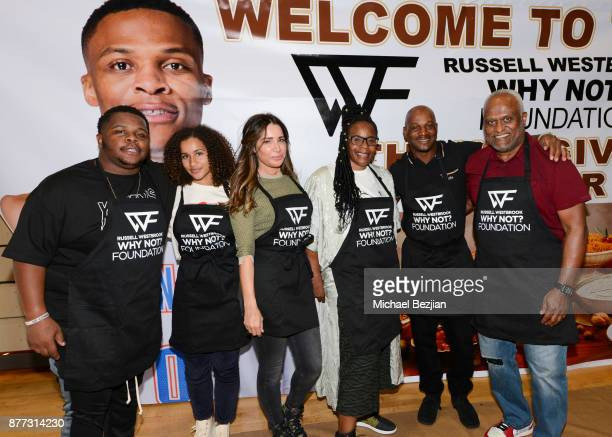 Raynard Westbrook Darly Tammy Brook Shannon Westbrooke Russell Westbrook II and Thad Foucher attend Russell Westbrook Why Not Foundation 6th Annual...