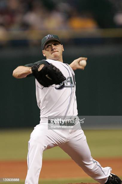 Rays 22year old AllStar pitcher Scott Kazmir works against the Boston Red Sox at Tropicana Field St Petersburg Fl USA July 3 2006 The Tampa Bay Devil...