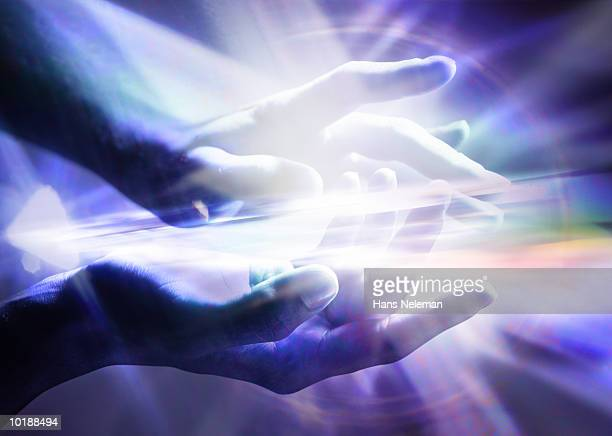 Rays coming from hands (Digital Composite)