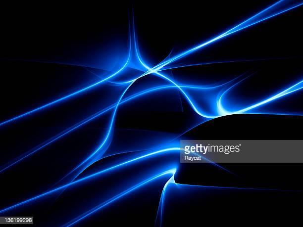 Rays of blue light