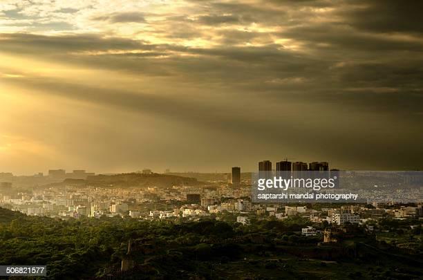 Rays on Hyderabad city