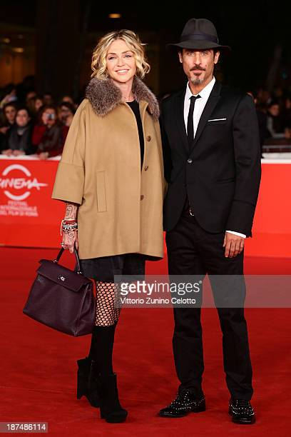 Raz Degan and Paola Barale attend 'Dallas Buyers Club' Premiere And Vanity Fair Award during The 8th Rome Film Festival at Auditorium Parco Della...