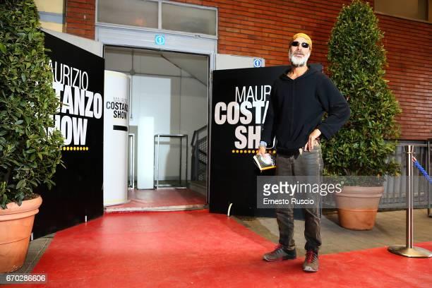Raz Degan attends the Maurizio Costanzo Show at Voxson Studios on April 19 2017 in Rome Italy