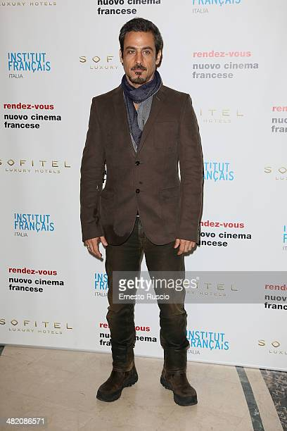 Raz Degan attends the 'Rendez Vous' French Film Festival photocall at Hotel Sofitel on April 2 2014 in Rome Italy