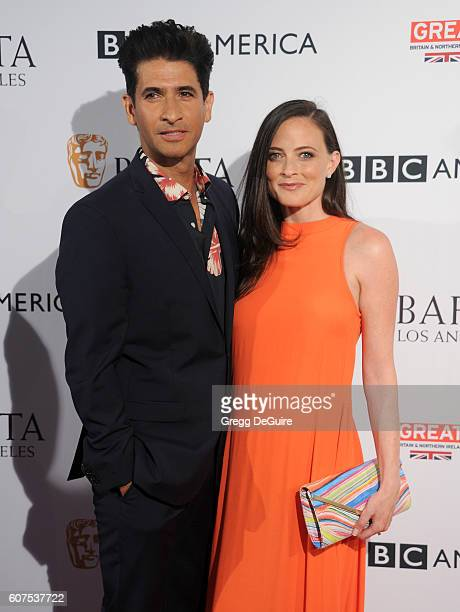 Raza Jaffrey and Lara Pulver arrive at the BBC America BAFTA Los Angeles TV Tea Party at The London Hotel on September 17 2016 in West Hollywood...