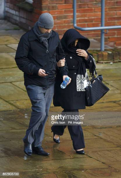 Raza Khan from Handsworth in Birmingham and his wife Paramjeet Kaur arrive at Winchester Crown Court where the two face charges of conspiracy to...