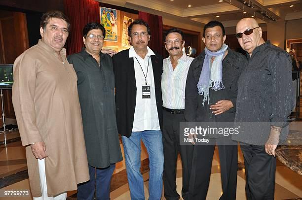 Raza Murad Anil Dhawan Kiran Kumar Suresh Oberoi Mithun Chakraborty and Prem Chopra at a press conference for the show Superstars Ka Jalwa in Mumbai...