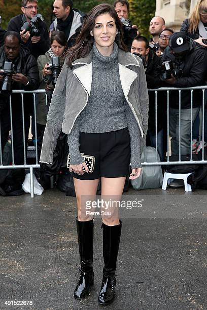 Razane Jammal arrives at the Chanel show as part of the Paris Fashion Week Womenswear Spring/Summer 2016 on October 6 2015 in Paris France