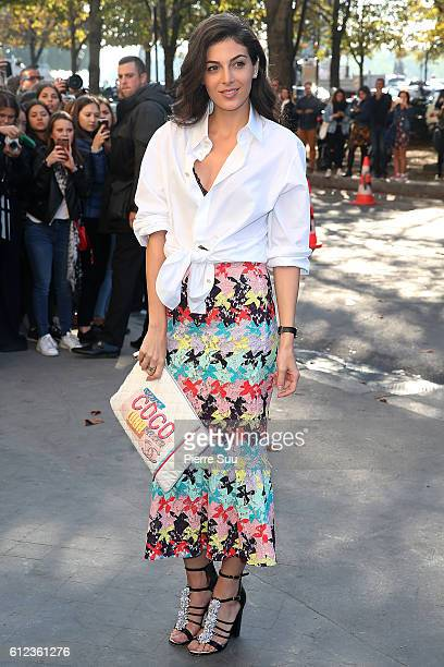 Razane Jammal arrives at the Chanel show as part of the Paris Fashion Week Womenswear Spring/Summer 2017 on October 4 2016 in Paris France
