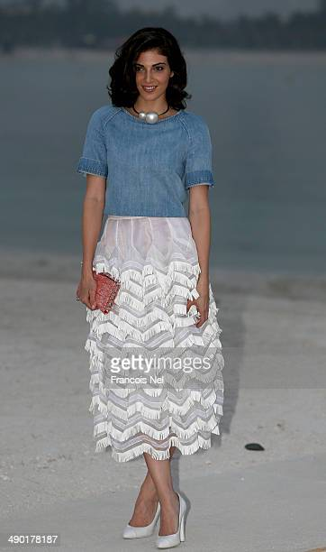 Razane Jammal attends the Chanel Cruise Collection 2014/2015 Photocall at The Island on May 13 2014 in Dubai United Arab Emirates